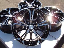 17x7.0 Black Polish Wheels Rims 5x108 5x110 Jaguar F S X Type Xe Xf Xfr Xkr Saab