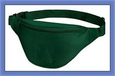 10 Pk Fantasybag Hunter Green 2-Zipper Fanny Pack