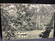 Vintage 1900s New Albany Indiana IN Glenwood Park Silver Creek Boats Postcard