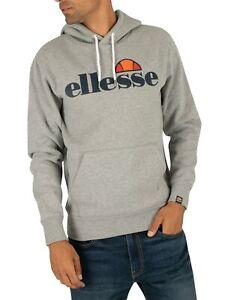 Ellesse Men's SL Gottero Pullover Hoodie, Grey