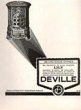 ▬► PUBLICITE ADVERTISING AD Poêle DEVILLE 1926 (d)
