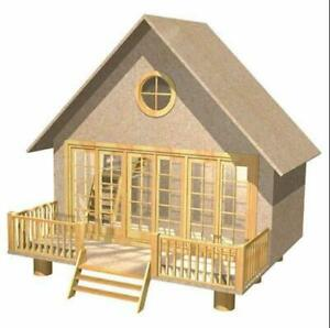 The Retreat Dolls House Holiday Home Chalet Flat Pack MDF Kit 1:12 Scale