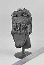 """1/6 Scale Dragon DML Model SDU Black Tactical Vest Model Toy F 12"""" Action Figure"""