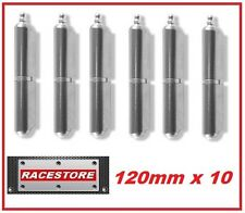 12 Brand New 120mm ALUMINIUM Weld On Hinges - Trailer Toolbox Enclosure Cabinets