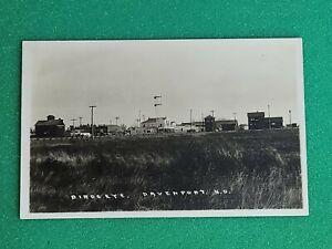 RPPC BIRDS EYE. Davenport  North Dakota Postcard