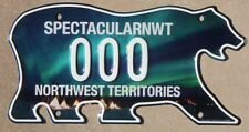 NORTHWEST TERRITORIES Canada Sample License Plate NWT Aurora Borealis