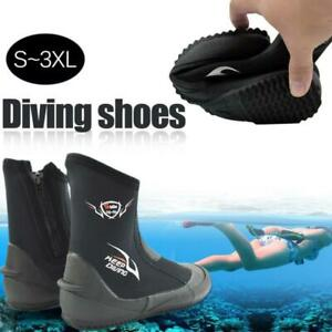 1Pair 5MM Neoprene Women Men Diving Shoes Scuba Snorkeling Water Boots Slip