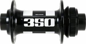 DT Swiss 350 Front Hub - 15 x 100mm, Center-Lock, Black, 28h