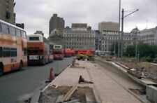 PHOTO  1991 CONSTRUCTION OF PICCADILLY GARDENS TRAM STATION IN 1991  ALL THE BUS
