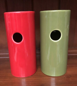 Pair White Barn Candle Bath And Body Works Red Green Tealight Wax Or Oil Warmer