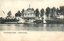 Schaarse oude Prentkaart met zicht op het Meer Overmeire Donck in ZELE (PK291)