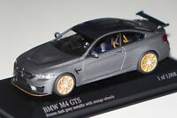 BMW M4 GTS 2016 matt grau orange Räder 1:43 Minichamps 410025220 neu & OVP