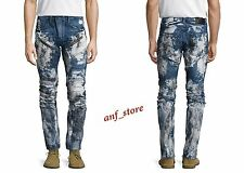 NWT PRPS Goods JAPAN Demon Slim Men Jeans 38 x 32 Faded DISTRESSED Printed $450