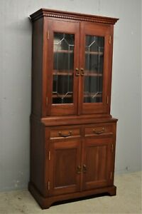 Mahogany bookcase display cabinet solid wood alcove slim delivery available