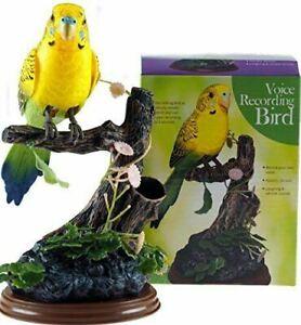 Yellow Talk Back Voice Recording Parrot Bird - Novelty Gift