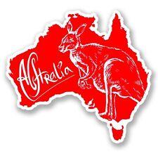 2 AUTOCOLLANT STICKERS Australie carte  kangourou Ipad pc portable auto moto 4x4