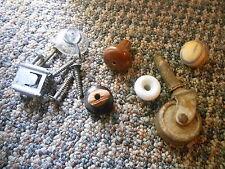 Old Vintage Mixed Lot Hardware Cabinet Drawer Pulls Knobs Leg Wheel Ball Screws