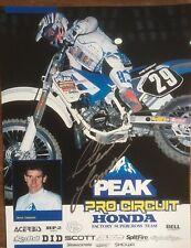 Steve Lamson Signed Autographed Team Peak Pro Circuit Honda 8x10 Poster