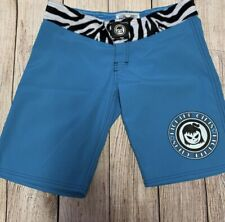 Fighter Girls Mma shorts size 5 teal with zebra print