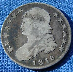 *DECENT LOOKING 1819 CAPPED BUST HALF DOLLAR - ESTATE FRESH*