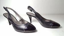 size 8 Bandolino Nekesh Black Heel Slingbacks Pumps Sandals Womens Shoes