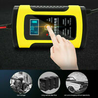 Car Battery Charger 110V To 220V To 12V 6A LCD For Auto RV Acid Motorcycle E4F1