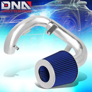 FOR 2004-2006 SCION XA 1.5L 1PC ALUMINUM COLD AIR INTAKE SYSTEM KIT+BLUE FILTER