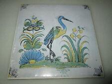 Wandfliese Nr. 10 nach alten Motiven aus dem 17. und 18. Jahrhundert Reiher