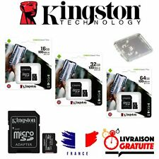 Carte micro SD Kingston Canvas Select Plus 16 32 64 go Classe 10 Switch