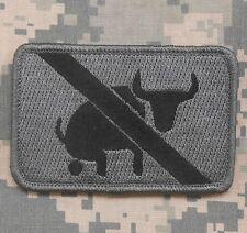 I TAKE NO BULLSHIT ARMY MILITARY USA ISAF ACU DARK VELCRO® BRAND FASTENER PATCH