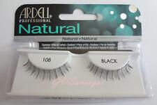 NIB~ Ardell Natural Lashes #108 False Fake Eyelashes Black Short Fashion