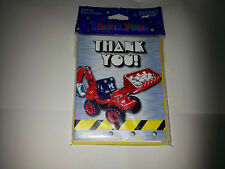 8 x thank you cards with envelopes ( diggers)