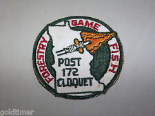 VINTAGE BSA BOY SCOUT PATCH 1960S POST 172 CLOQUET FORESTRY GAME FISH
