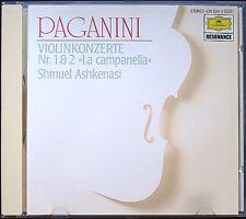 Schmuel ASHKENASI: Paganini Violin Concerto 1 & 2 la Campanella CD Heribert Esser