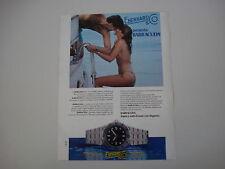 advertising Pubblicità 1982 OROLOGIO EBERHARD BARRACUDA