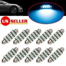 10pcs Ice Blue 12-SMD LED Light 41/42/43mm Festoon Bulbs Car Interior Dome Map