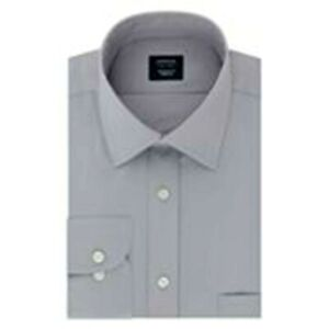 New $45.00 ARROW Quality Men Stretch Shirt, Big & Tall, Gray - 2XL 18 34-35