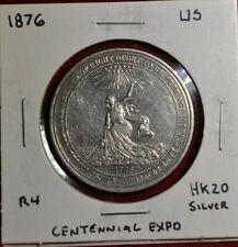 1876 HK-20 US Centennial Expo. Official Medal, Silver 38mm - Nice Coin