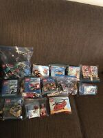 Rare Huge Lego Large Minifigure lot w/some accessories. 13 Different Sets Bags!