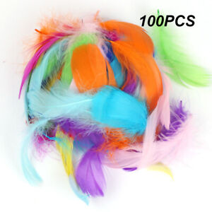 100 x Small Fluffy Swan Feathers 4-8cm Card Making Crafts & Bubble Balloons