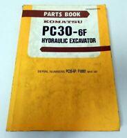 Ersatzteilkatalog Komatsu PC30-6F Hydraulic Excavator Parts book 1990