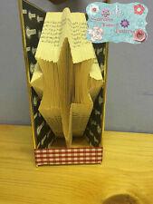 North Star Folded Book Art Folding PATTERN ONLY Christmas git idea #521