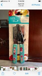 Pioneer Woman Gorgeous Garden Can Opener With Country Bottle Opener Brand New