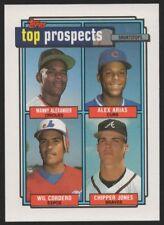1992 TOPPS #551 WILFREDO CORDERO / CHIPPER JONES /MANNY ALEXANDER / ALEX ARIAS