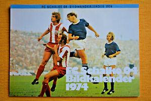 FC Schalke 04 Fussball Bildkalender 1974 mit 26 Monatsblättern ca.29x20 cm groß