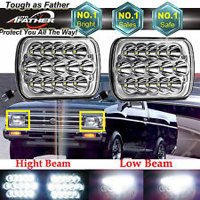 7x6 LED Headlights HID Bulbs Crystal Clear Sealed Beam For Nissan Pickup Sentra