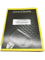 John Deere Tractor Loader 300 300X 300CX OMW54458 Operator's Manual