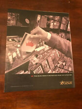 """2003 Vintage 10X12"""" Print Ad Budweiser Beer True Music Rescued From Cutout Bin"""