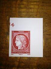FRANCE salon 2014 - timbre N° 4871 Carmin gravé CERES  NEUF ** coin de feuille