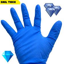 Diamond Grip Hd 8mil Heavy Duty Latex Free Nitrile Disposable Gloves 40 100 Blue